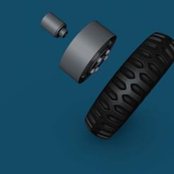 Descargar modelo 3D gratis Ruedas para esquivar wc53 - wc54 y WC52 Llanta y neumático a escala 1/16, ONE16Customs