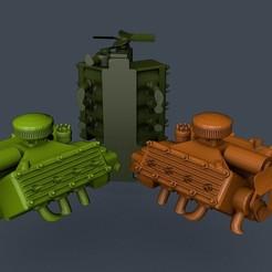 Descargar Modelos 3D para imprimir gratis Maniquí V8 Diesel de cabeza plana escala 1/16, ONE16Customs