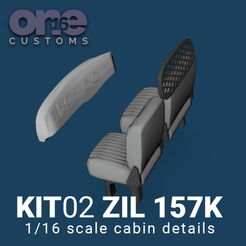 Download 3D model Cabin Details ZIL 157 K Scale 1/16 one16 customs, ONE16Customs