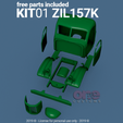Download 3D printer designs ZIL 157 K Scale 1/16 one16 customs, ONE16Customs
