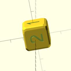 d� chiffr�.png Download STL file Deciphered (no points) • 3D print model, Rias3d