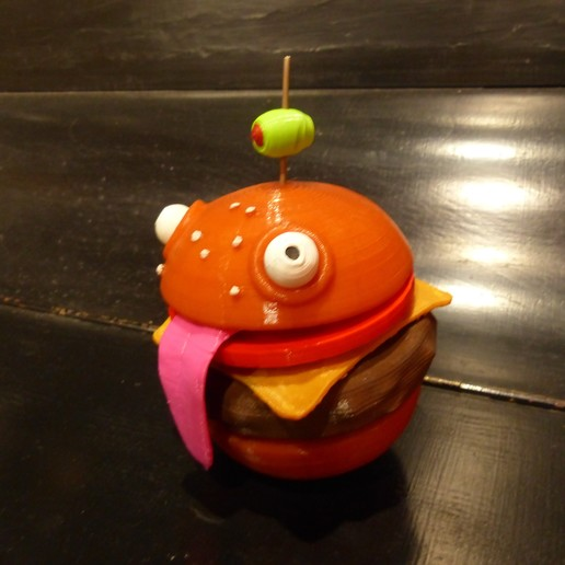 Download free STL file Durr Burger remix (Separate parts) • 3D printer model, conceptify