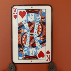 STL files King of Hearts Frame, conceptify
