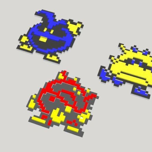 Dr_Mario_vue_3D.JPG Download free STL file Dr Mario virus 8 bits sprite (multilayer) • 3D printing object, conceptify