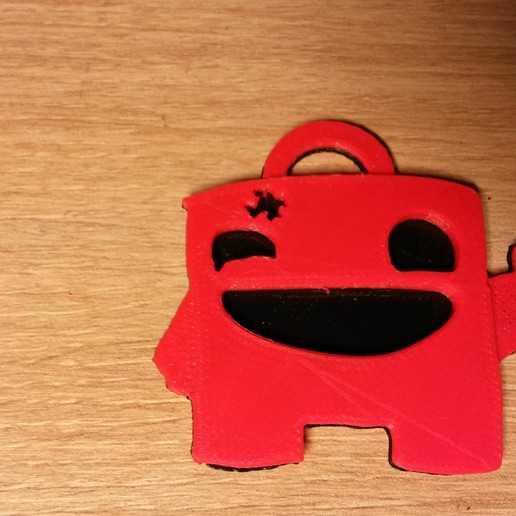 20161124_172255.jpg Download free STL file Super Meat Boy Keychain • Model to 3D print, conceptify