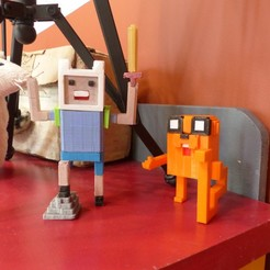 Download free STL file Voxel-style «Adventure Time» character figures, conceptify