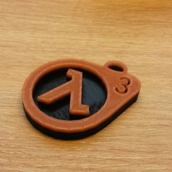 20161109_120314.jpg Download free STL file Porte-Clefs Half-Life 3 • 3D printable model, conceptify