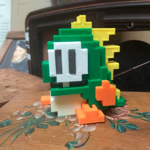 56795588_429530104285904_4014938563626926080_n.jpg Download free STL file 8 bits style Bubble Bobble Dragon - Separate parts (no glue needed) • 3D print model, conceptify