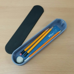 Free 3d printer designs Pencil case, maakmake
