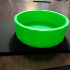 modelo stl gratis bol multifonctions (cendrier,bol alimentaire,gamelle pour chient ou chat), impri
