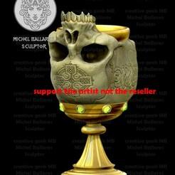 COPA FINAL_cults.jpg Download STL file Skull cup 3D print model  • 3D printer object, sephon66
