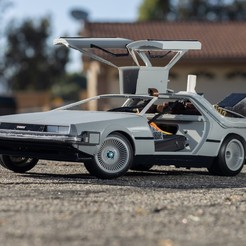 Télécharger fichier imprimante 3D gratuit Delorean DMC-12/BTTF Time Machine 3D Printed RC Car, brett