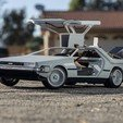 Descargar STL gratis Delorean DMC-12/BTTF Time Machine 3D Printed RC Car, brett