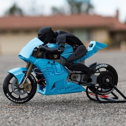 Download free STL file 2016 Suzuki GSX-RR MotoGP RC Motorcycle • 3D print object, brett