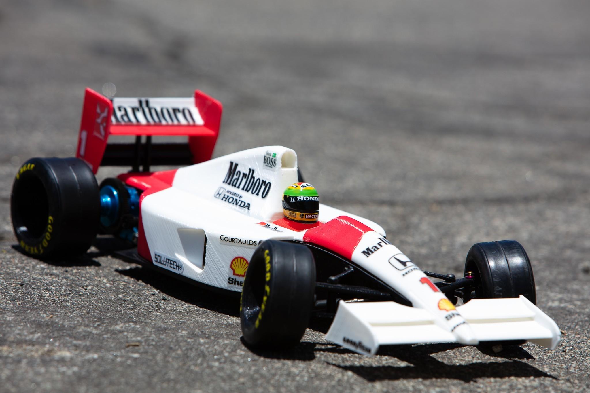 _S2A0996.jpg Download free STL file Aryton Senna's Mclaren MP4/6 3d Printed RC F1 Car • 3D printing design, brett