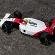Download free 3D printer templates Aryton Senna's Mclaren MP4/6 3d Printed RC F1 Car, brett