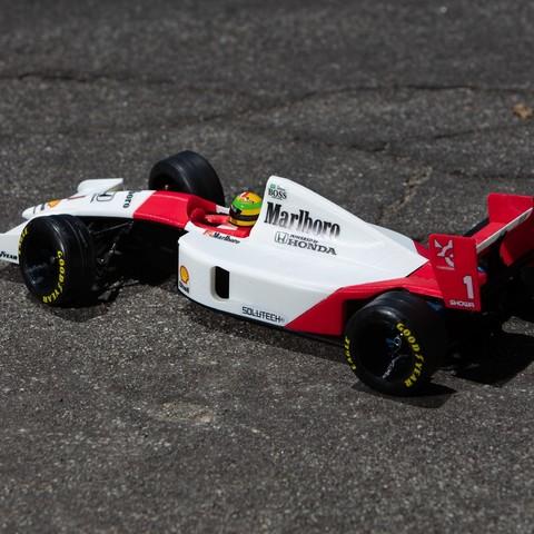 _S2A1053.jpg Download free STL file Aryton Senna's Mclaren MP4/6 3d Printed RC F1 Car • 3D printing design, brett