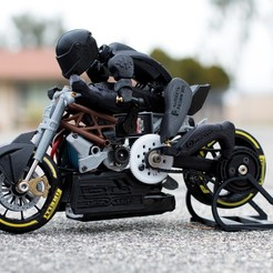 Download free STL file 2016 Ducati Draxter Concept Drag Bike RC, brett