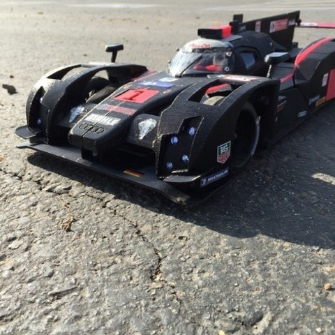 "7302f075bc7925d21c1d26bcdacf7484_preview_featured.jpg Download free STL file RS-LM 2014 Audi R18 E-Tron Quattro ""The Ali"" • 3D printer object, brett"