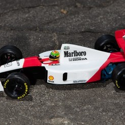 Download free STL file Aryton Senna's Mclaren MP4/6 3d Printed RC F1 Car • 3D printing design, brett