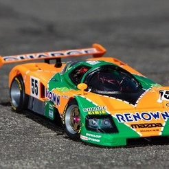 Download free 3D printer templates 1991 Mazda 787B 3d Printed RC Car, brett