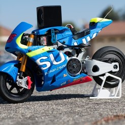 Download free STL file 2016 Suzuki GSX-RR 1:8 Racing RC MotoGP Version 2 • 3D print design, brett