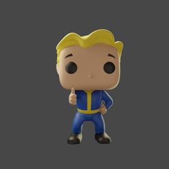 Vaultboy.png Download STL file VaultBoy Funko • Design to 3D print, ZeraStudio