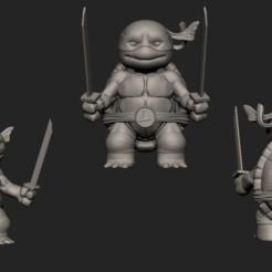 Download 3D print files Leonardo TMNT Chibi, ZeraStudio