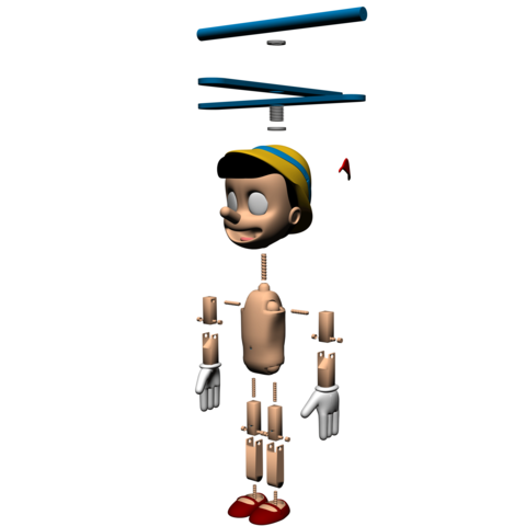 5.png Download free STL file Pinocchio • Model to 3D print, Gunnarf1986