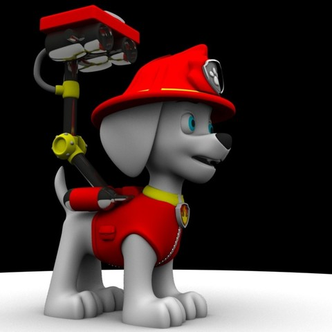 Marshall Render.jpg Download free STL file Marshall (Paw Patrol) • 3D printing design, Gunnarf1986