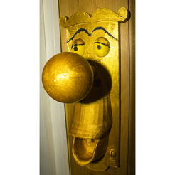 Free STL files Alice in wonderland Doorhandle, Gunnarf1986