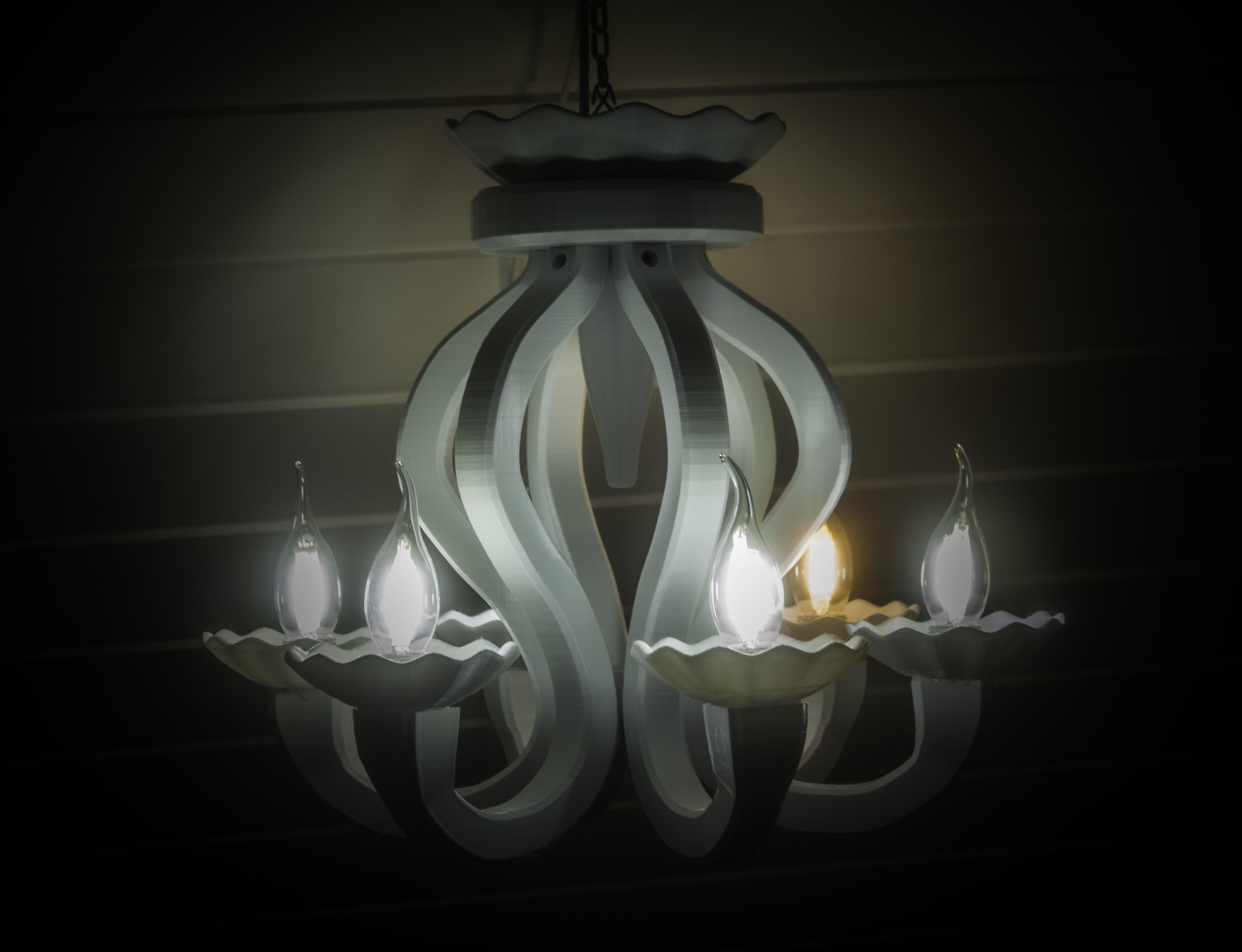 IMG_3988.jpg Download free STL file 6 Armed chandelier • 3D printer design, Gunnarf1986