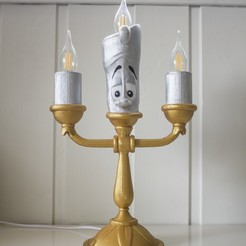 Download free 3D printing designs Lumière (Beauty and the beast), Gunnarf1986
