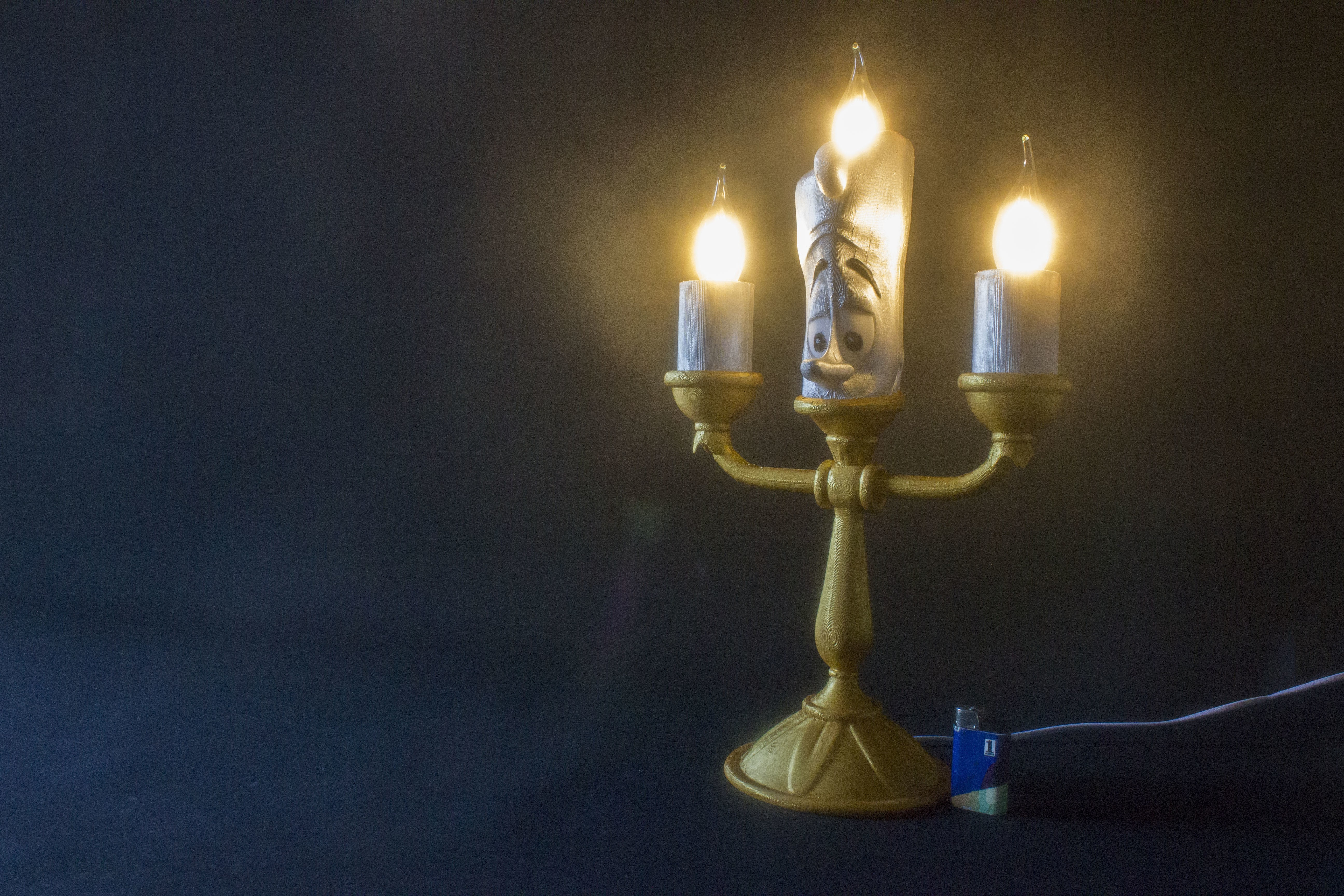 IMG_5116.jpg Download free STL file Lumière (Beauty and the beast) • 3D printing design, Gunnarf1986