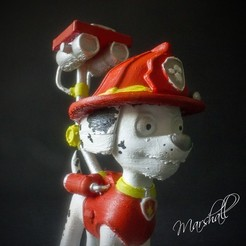 IMG_5141_Tekst_Cults.jpg Download free STL file Marshall (Paw Patrol) • 3D printing design, Gunnarf1986