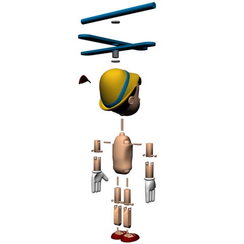 3.png Download free STL file Pinocchio • Model to 3D print, Gunnarf1986
