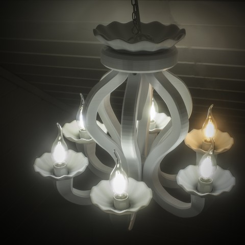 IMG_3997.jpg Download free STL file 6 Armed chandelier • 3D printer design, Gunnarf1986