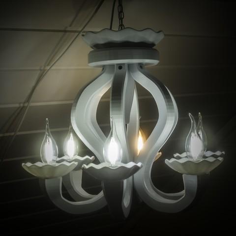 IMG_3992.jpg Download free STL file 6 Armed chandelier • 3D printer design, Gunnarf1986