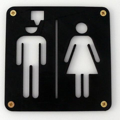 Free 3d printer files Maker's toilet sign, EASY3DSTORE