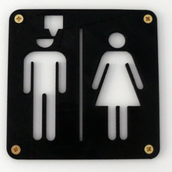 Free 3D printer files Maker's toilet sign, EASY3DSTORE