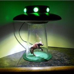 Download free STL file alien abduction lamp • Model to 3D print, NohaBody