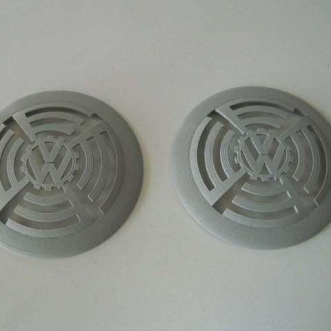 Download free STL file VW speaker cog grill • 3D printing design, NohaBody