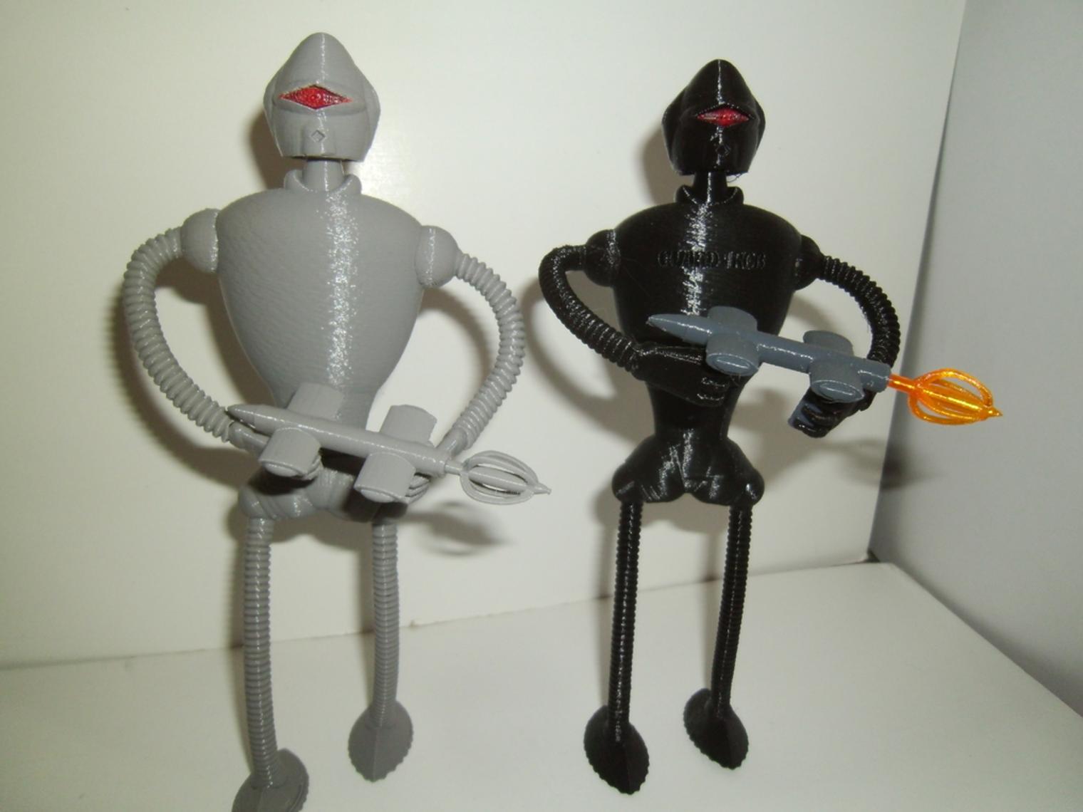 Capture d'écran 2017-08-21 à 11.46.10.png Download free STL file Guard Rob (robot) • 3D print design, NohaBody