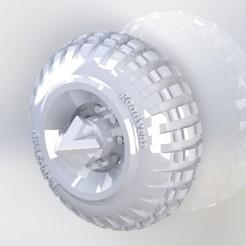 Télécharger fichier STL offroad wheels hotwheels custom gaslands 1/64 crazykavan, crazykavan