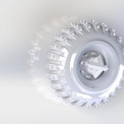 Télécharger STL ice/snow wheels hotwheels custom gaslands 1/64 crazykavan, crazykavan