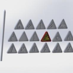 Télécharger fichier impression 3D road sign easy to paint hotwheels custom gaslands 1/64 crazykavan, crazykavan