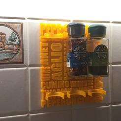 modelos 3d gratis Porta spezie - Soporte para las especias, jucker