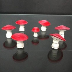 Download free 3D printing designs Fantasia - Mushrooms, mag-net