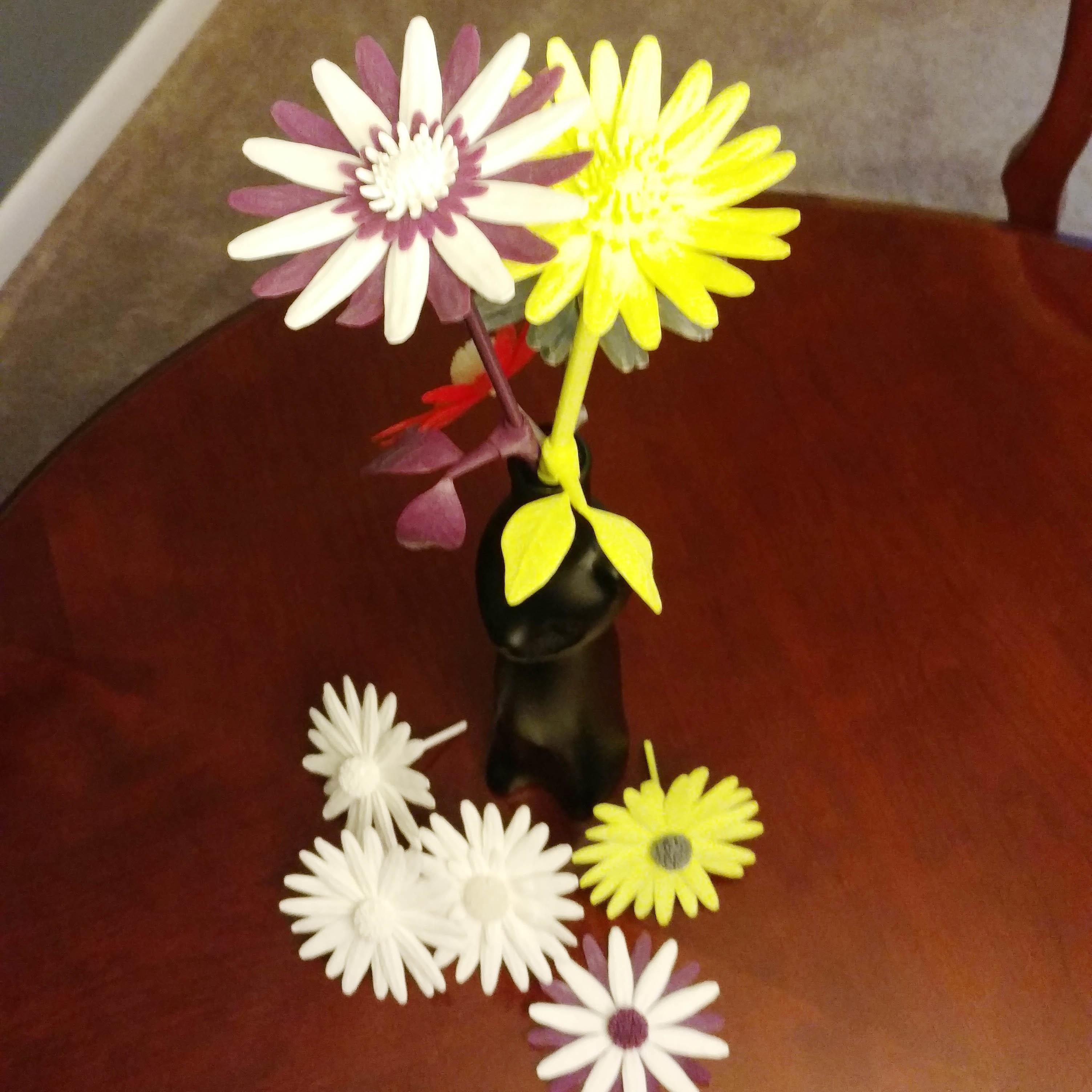 5.jpg Download free STL file Daisy - Flat flower • 3D printable template, mag-net