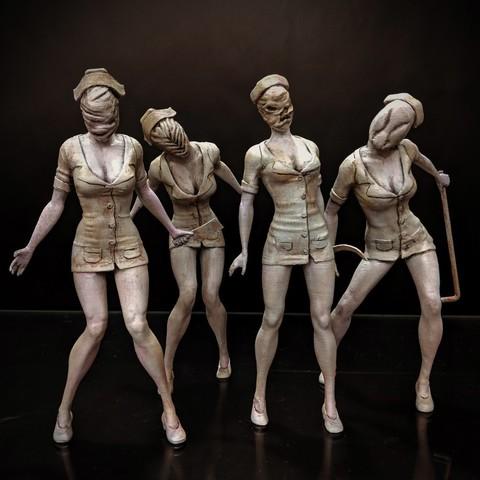 Download free 3D printer model Silent Hill - Nurse, mag-net